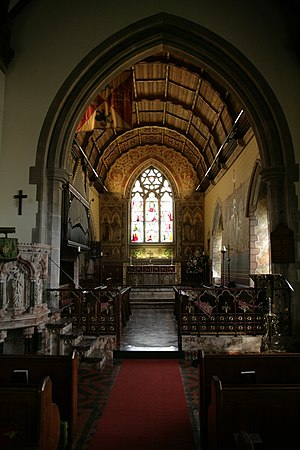 St Michael and All Angels Church, Hughenden - The rich Victorian decoration in the chancel