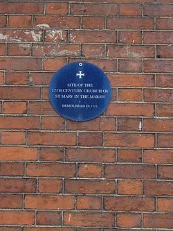 Photo of St Mary In The Marsh, Norwich black plaque