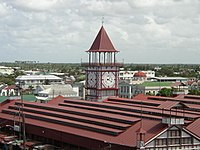 View of Georgetown from the Stabroek Market