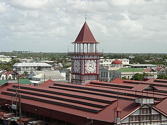 Georgetown, Guyana - Image: Stabroek Market Clock by Khirsah 1