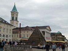 Evangelische kirche karlsruhe marktplatz
