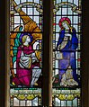 Stained glass window, St Lawrence church, Hawkhurst (15102710329).jpg