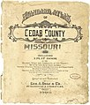 Standard atlas of Cedar County, Missouri - including a plat book of the villages, cities and townships of the county, map of the state, United States and world, patrons directory, reference LOC 2008626949-1.jpg