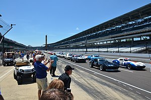 Indy Legends Charity Pro–Am race - The starting grid for the 2016 Pro-Am race.