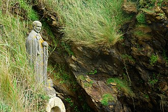 Gildas - Statue of Saint Gildas near the village of Saint-Gildas-de-Rhuys (France).