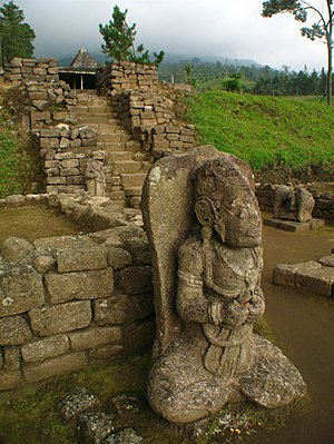 Ceto Temple - A statue at the main courtyard of Candi Ceto
