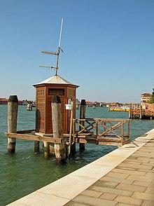 Stazione di rilevamento del livello di marea di Venezia - Punta della Salute (lato Canale della Giudecca)