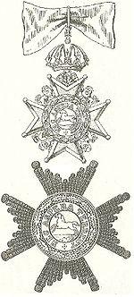 Ster en kleinood van een civiele Commandeur in de Welfenorde correcte tekening