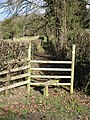 Stile leading to a short footpath - geograph.org.uk - 1196371.jpg