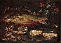 Stilleven met vissen, oesters en garnalen Rijksmuseum SK-A-2111.jpeg