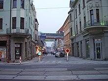 Strada di Ostrava in via di ammodernamento