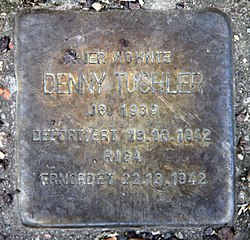 Photo of Denny Tuchler brass plaque