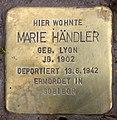 Stolperstein Marienbader Str 12 (Schma) Marie Händler.jpg