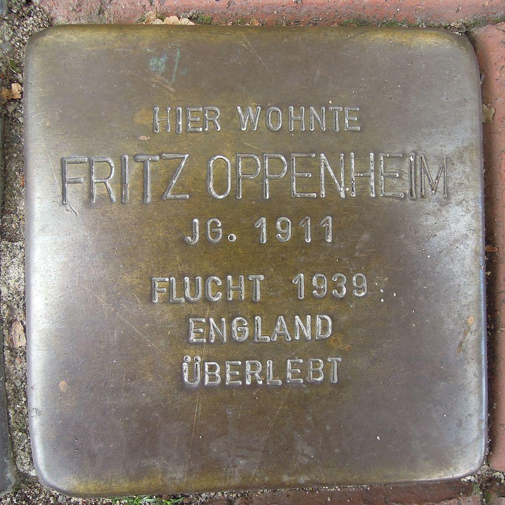 Stolperstein Petershagen Mindenerstraße 12 Fritz Oppenheim