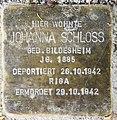 Stolperstein Sakrower Kirchweg 70a (Kladow) Johanna Schloss.jpg