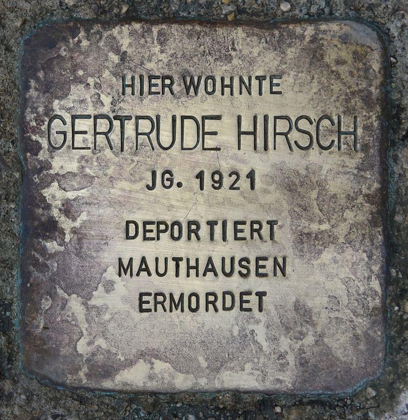 Stolperstein für Gertrude Hirsch.JPG