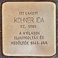 Stolperstein für Ida Kohner (Budapest).jpg