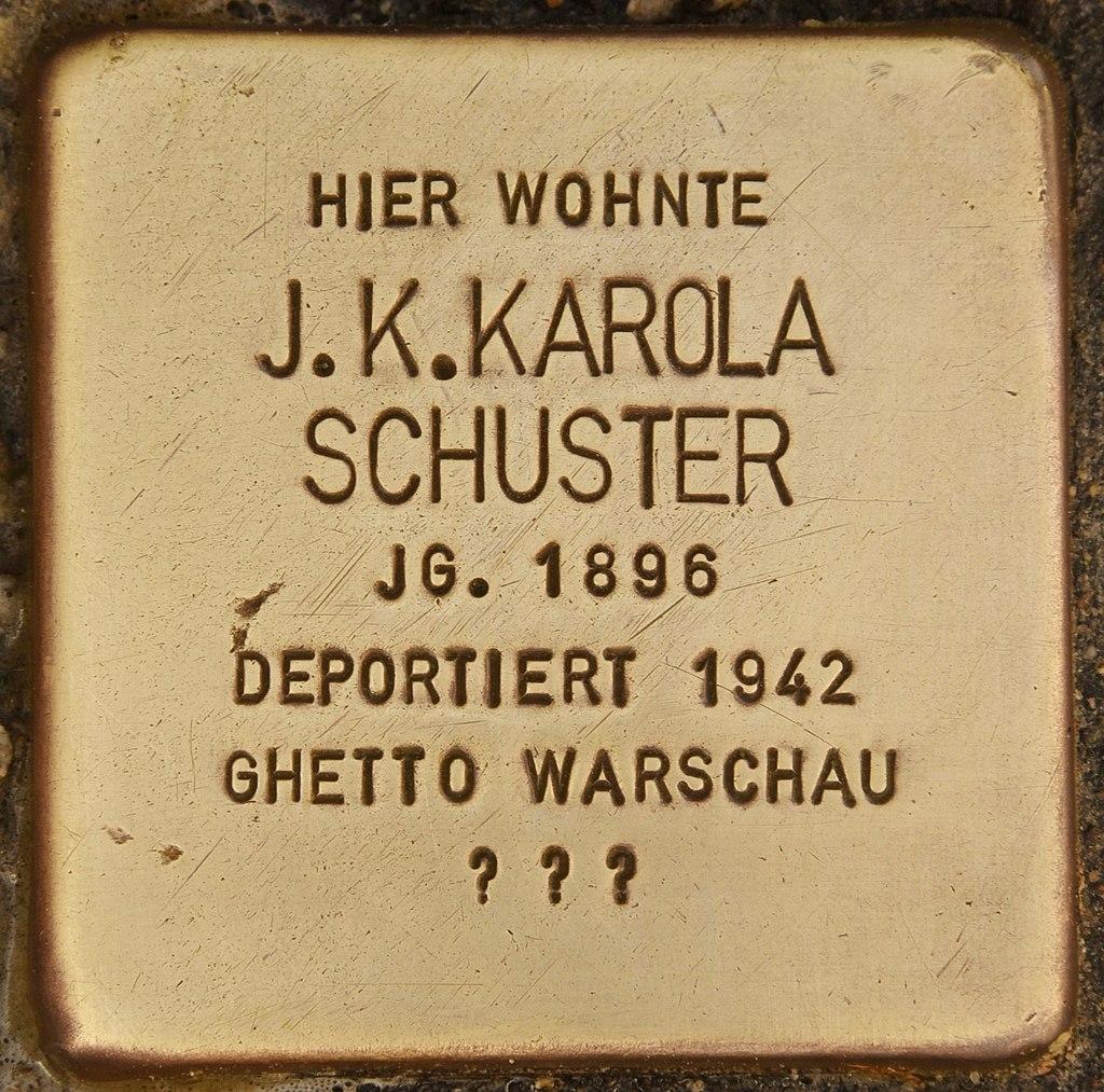 Stolperstein für J. K. Karola Schuster (Bernau).jpg