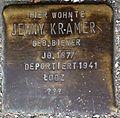 Stumbling block for Jenny Kramer (Alteburger Straße 11)