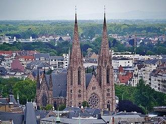 St. Paul's Church (Strasbourg) - Image: Straßburg Temple St. Paul vom Turm des Münsters