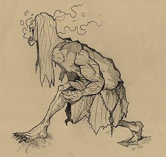 Strzyga - Strzyga - artistic vision of Slavic demon by Filip Gutowski (source: The Sarmatian Bestiarium by Janek Sielicki)