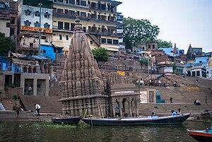 Manikarnika Ghat - Ratneshwar Mahadev temple, Varanasi, India
