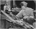 "Sue Protruck, a women worker in shipfitters shop , US Navy Yard, Mare Island, CA."" - NARA - 296891.tif"