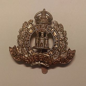 Suffolk Regiment - Badge of the Suffolk Regiment