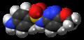 Sulfamethoxypyridazine molecule spacefill.png