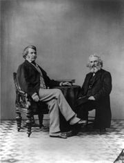 Senator Sumner and his good friend Henry Wadsworth Longfellow