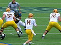 Sun Devils on offense at Arizona State at Cal 2010-10-23 12.JPG