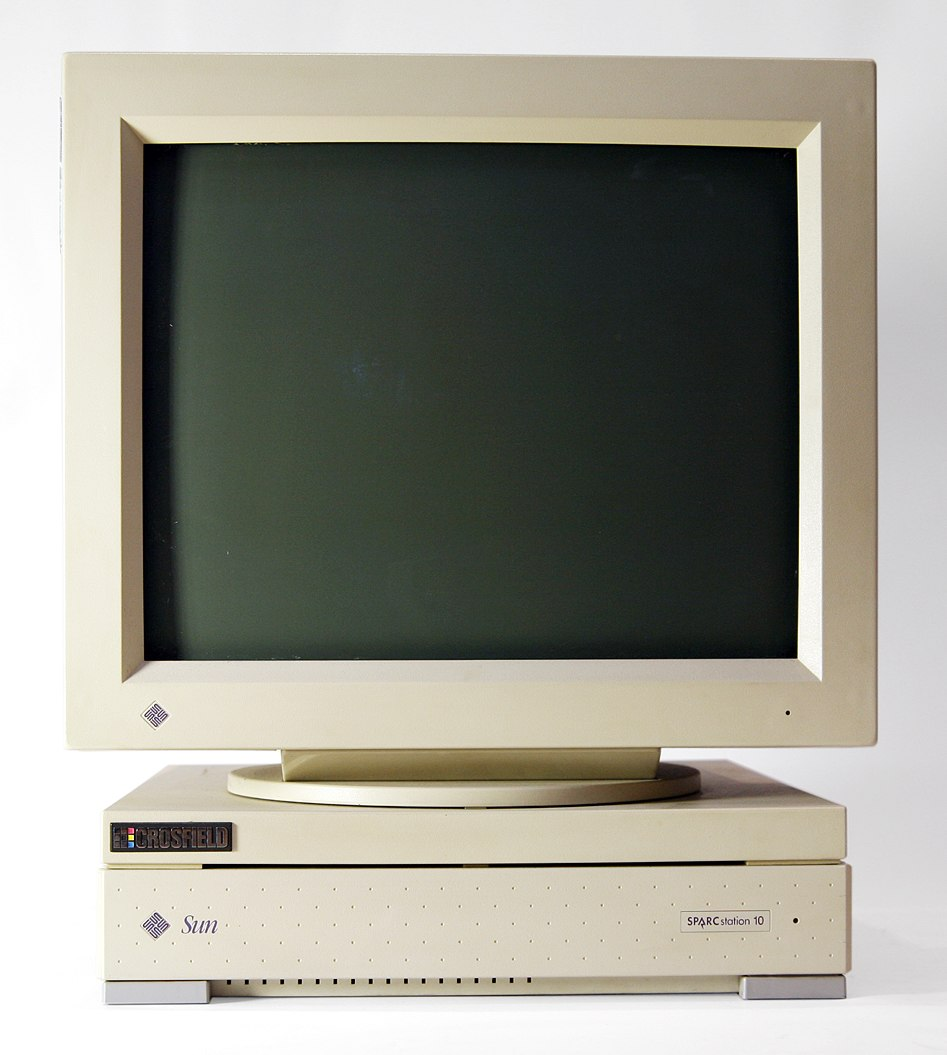 Sun SparcStation 10 with CRT