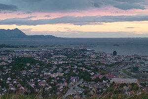 보되: Sunset.bodø.norway