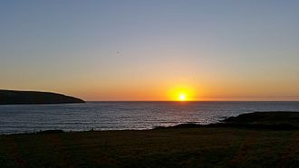 Cardigan Bay - Sunset over Cardigan Bay from Gwbert