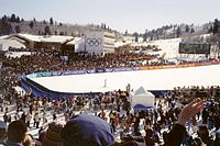Super-G at Snowbasin during the 2002 Winter Olympics