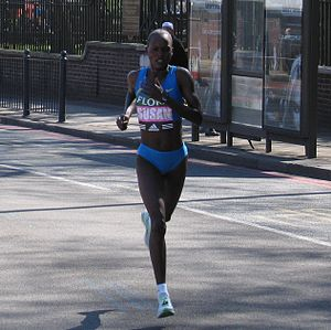 Susan Chepkemei - Chepkemei at the 2005 London Marathon