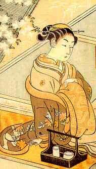Suzuki Haronubu oiran ukiyo-e