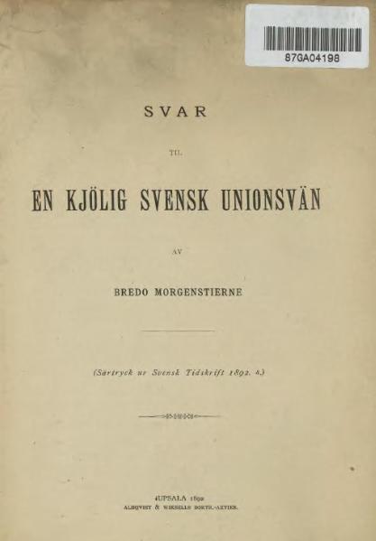 File:Svar til en kjölig svensk unionsvän.djvu