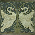 Swan and Rush and Iris wallpaper Walter Crane.jpg