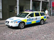 Szwedzki radiowóz - Volvo V70.