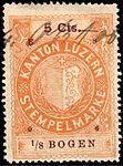 Switzerland Lucerne 1906 revenue 6 5c - 102 - E 8 06.jpg