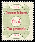 Switzerland Renens 1912 revenue 6 4Fr - 29.jpg