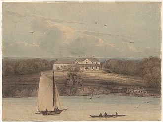 William Westall - Sydney: Government House, 1802