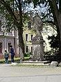Třeboň, Dukelská, socha sv. Jana Nepomuckého u Hradební ulice (01).jpg