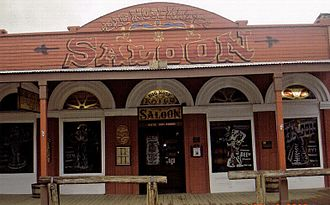 """Big Nose Kate - Big Nose Kate's Saloon in Tombstone. It was originally called the """"Grand Hotel"""" and was built in 1880. The McLaury brothers stayed there the night before the gunfight at the O.K. Corral."""