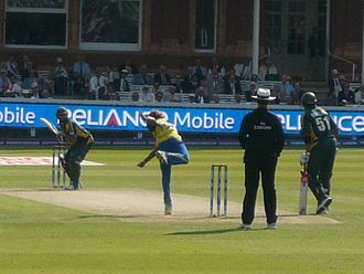 Lasith Malinga - Malinga bowling against Pakistan in the final of the 2009 ICC World Twenty20 at Lord's.