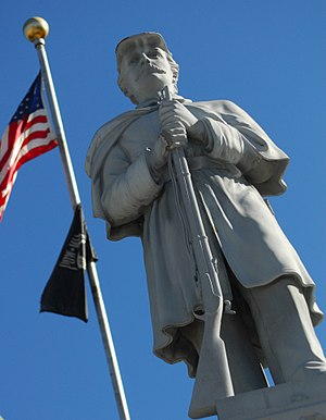 Somerset County Courthouse (Pennsylvania) - Image: TAG 142 Pennsylvania Volunteer Infantry Statue