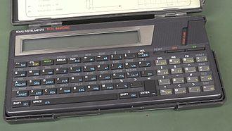 TI-74 - TI-74 BASIC Pocket Computer With Case