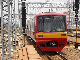 Tokyo Metro 05 series - Image: TM 05 110F at Manggarai Station