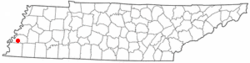 Location of Munford, Tennessee